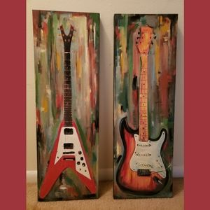 Canvas Guitar Paintings